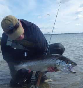 claus med grov fisk på hele 5,4 kg. fra Odense Inderfjord