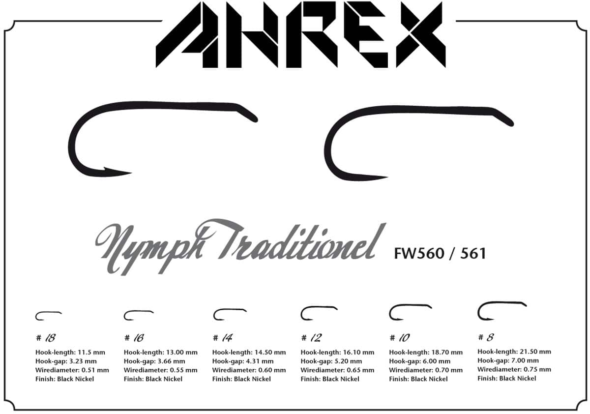 AHREX FW560 – NYMPH TRADITIONAL,Ahrex,Ahrex Hooks,Hooks,Fluekroge,Fluebinding