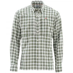 Simms bugstopper-ls-shirt-plaid-kelp-plaid