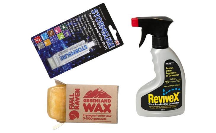 Tilbehør til reparationer, vask og imprægnering af dine vaders eller jakke